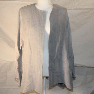 Linen blend grey Company Ellen Tracy jacket, small